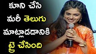 Heroine Siddhi Idnani Telugu Speech @ Jamba Lakidi Pamba Pre Release Event