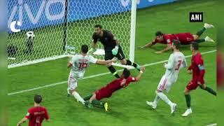 Spain 3-3 Portugal Spain held by Ronaldo heroics