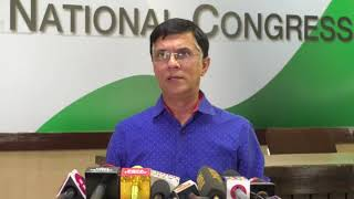 AICC Press briefing  by Pawan Khera on the deteriorating situation in Kashmir
