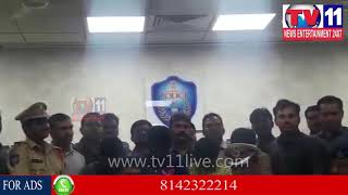 NORTH ZONE TASK FORCE POLICE ARRESTED RICE PULLING GANG AT BOWENPALLY |  Tv11 News | 21-12-2017