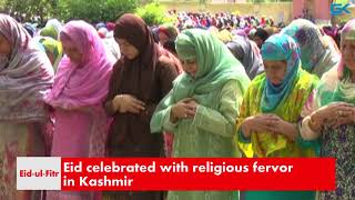 Eid celebrated with religious fervor in Kashmir