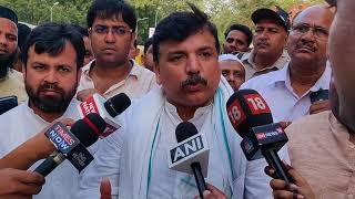Rajya Sabha Member Sanjay Singh byte on IAS Association Statement & Rahul Gandhi's Remark on Dharna