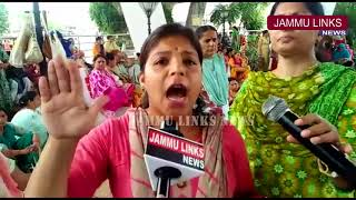 Anganwari workers continue protest for enhancement of wages