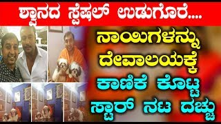 Darshan gifted Dogs to Temple   Darshan Kannada News   Top Kannada TV
