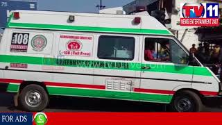 MAN COMMITS SUICIDE  BEFORE PENDURTHI POLICE STATION,VISAKHAPATNAM    Tv11 News   10-01-2018