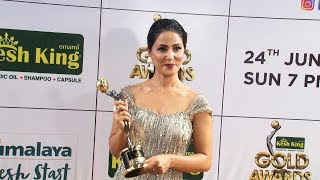 Hina Khan Gorgeous Look At 11th Gold Awards 2018 - Full Interview