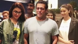Salman Khan, Jacqueline Fernandez And Daisy Shah Together Leaves For Dabangg Tour USA | Airport