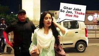Janhvi Kapoor Sweet Gesture Towards Media At Airport | Dhadak Song Launch
