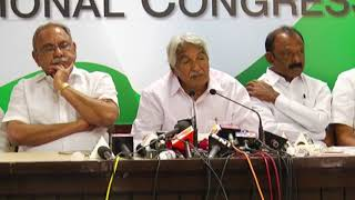 AICC Press Briefing by Oommen Chandy on Action Plan to Strengthen The Party in  Andhra Pradesh