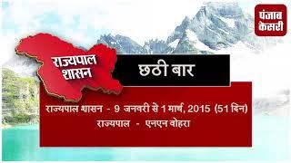 जम्मू कश्मीर में 8वीं बार लगा गवर्नर रूल, जानिए पूरा ब्यौरा