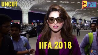 Urvashi Rautela Spotted At Airport - IIFA 2018 Performance - Full Interview
