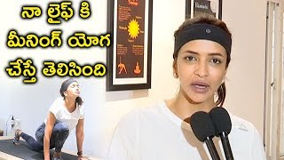 Actress Manchu Lakshmi Yoga | International Yoga Day 2018