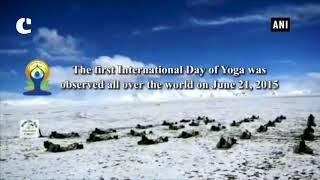 ITBP personnel perform 'Surya Namaskar' at 18,000 feet in Ladakh