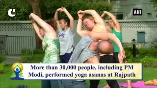 Yoga being performed at US Embassy in Delhi