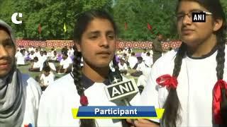 4th International Yoga Day celebrated in Sher-i-Kashmir stadium