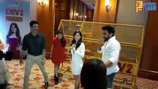 Pooja Bose Fall Down With Ashish Chaudhary At Dev 2 Show Launch