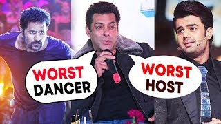 Prabhu Deva 'Worst Dancer', Manish Paul 'Worst Host', Says Salman Khan