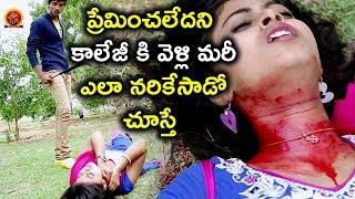 ప్రేమించలేదని కాలేజీ కి వెళ్లి మరీ ఎలా నరికేసాడో చూస్తే - Latest Telugu Movie Scenes