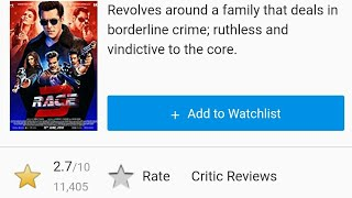 Race 3 Movie IMDB Rating Drops To All Time Low 2.7