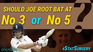 Statistical Surgery: Joe Root should bat at naumber 3 or 5?