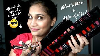 What's New in Affordable ?? | Affordable Lipsticks Under Rs. 250 | CV3 Makeup Haul | Nidhi Katiyar