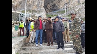 Governor reviews arrangements at Holy Cave