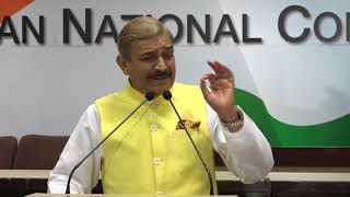 Pramod Tiwari addresses media at Congress HQ on the Minimum Support Price (MSP)