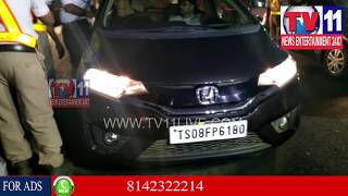 DRUNK AND DRIVE GIRL HULCHAL AT JUBILEE HILLS | Tv11 News | 24-02-2018