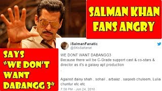Salman Khan Angry Fans Trolled Dabangg 3 On Social Media And Says We Dont Want Dabangg 3