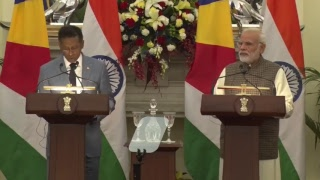 Exchange of Agreements and Press Statements: State Visit of President of Seychelles to India
