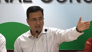 Modi Killing Democracy: AICC Press Briefing By Randeep Singh Surjewala at Congress HQ