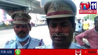 ASIF NAGAR TRAFFIC POLICE CONDUCT VEHICLE CHECKING IN MASABTANK |Tv11 News | 13-02-2018