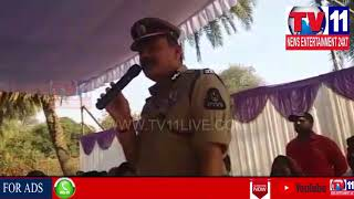 CP HYD INSPECTION ON SREE RAMANAVAMI SHOBA YATRA ROUTE AT MANGALHAT , HYD | Tv11 News | 22-03-2018