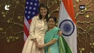 US Envoy Nikki Haley meets EAM Swaraj