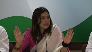 Defence Budget: AICC Press Briefing By Priyanka Chaturvedi at Congress HQ