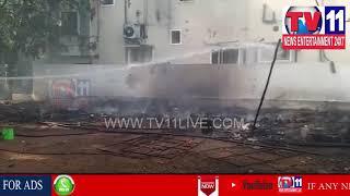 GAS LEAK CAUSES FIRE ACCIDENT IN SAIRAM NAGAR , SAROOR NAGAR PS LIMITS | Tv11 News | 28-03-2018