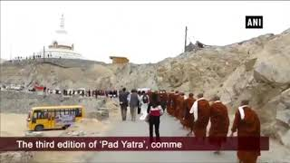 185 monks, nuns from Thailand reach Leh on 'Pad Yatra'