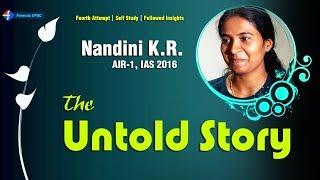 Nandini KR: The Untold Story | IAS Topper 2016-17 | Formula UPSC