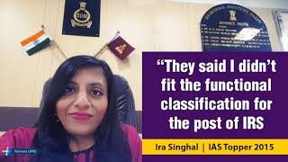 """""""They said I didn't  fit the functional  classification for IRS"""" 