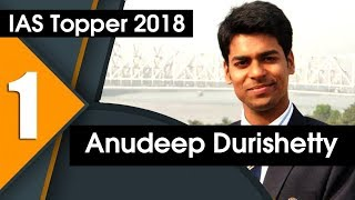 Anudeep Durishetty IAS Topper 2018 | 5TH Attempt, Self Study | UPSC/CSE 2017-18 | Formula UPSC