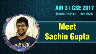 Meet Sachin Gupta | AIR -3, CSE/IAS Topper 2017 | Formula UPSC
