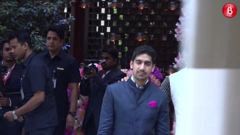 Bollywood celebrities arrive at Akash Ambani and Shloka Mehta's Engagement ceremony