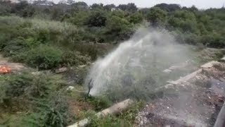 Aaji dam's main pipeline ruptured, liters of water wasted