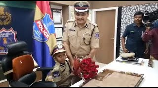 6 YEARS OLD CANCER PATIENT BECAME  POLICE COMMISSIONER   Tv11 News   04-04-2018