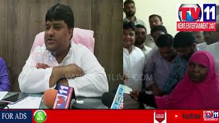RAHMAT NAGAR CORPORATOR  MA SHAFI CLEANARY METTING WITH PARTY WORKERS IN HIS OFFICE | Tv11 News
