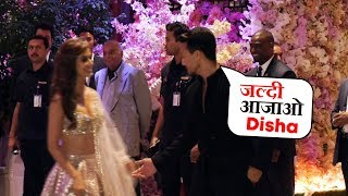 Tiger Shroff With Girlfriend Disha Patani At Mukesh Ambani's Son Akash Ambani's Engagement Ceremony
