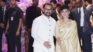 Aamir Khan And Kiran Rao At Mukesh Ambani's Son Akash Ambani's Engagement Ceremony