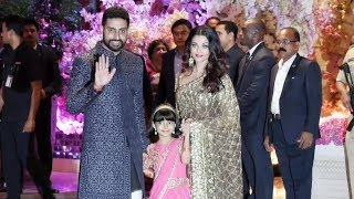 Aishwarya Rai And Abhishek Bachchan With Aaradhya At Ambani GRAND Engagement Party