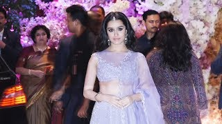 Shraddha Kapoor At Mukesh Ambani's Son Akash Ambani's Engagement Ceremony