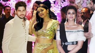 Alia, Sidharth And Parineeti At Mukesh Ambani's Son Akash Ambani's Engagement Ceremony